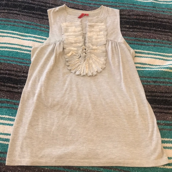 Anthropologie Tops - Anthropologie tank with ruffle detail